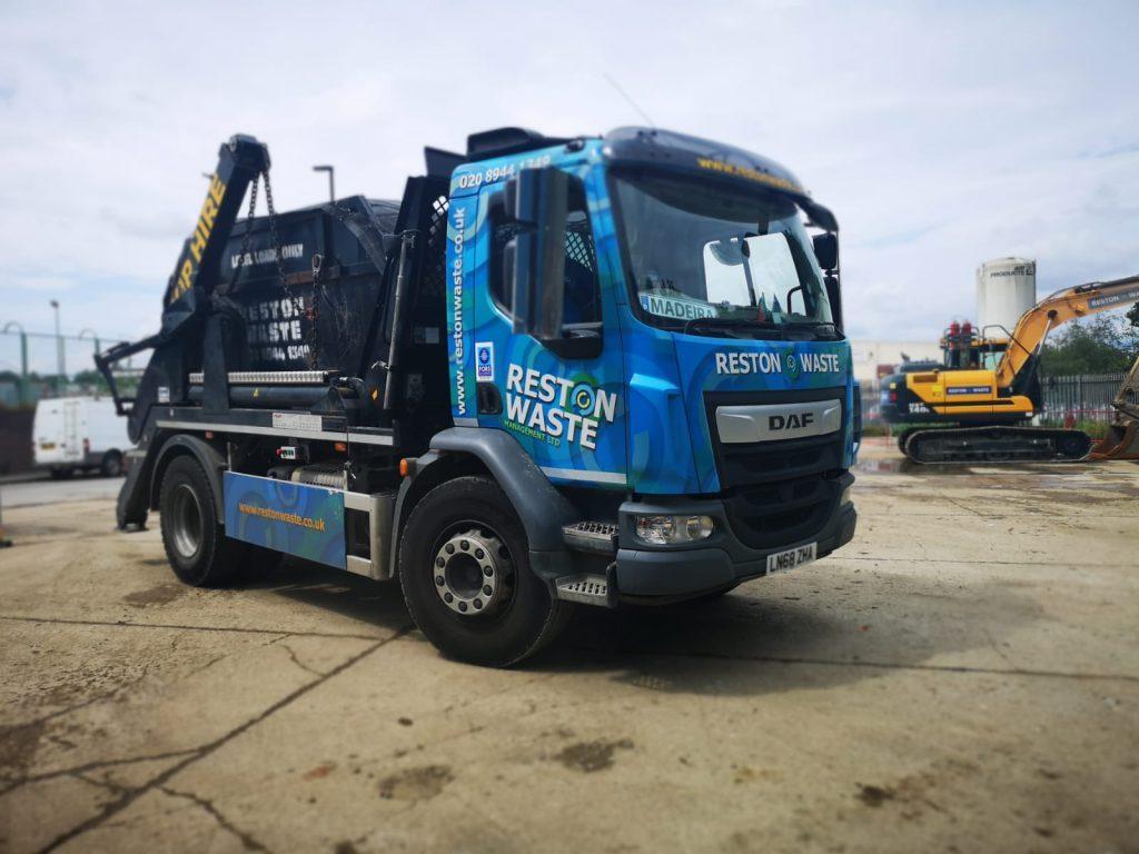Reston Waste skip hire lorry